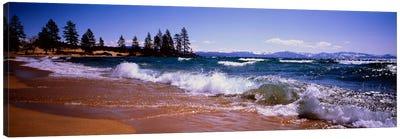 Crashing Waves, Lake Tahoe, Nevada, USA Canvas Print #PIM1271