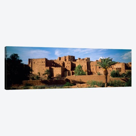 Buildings in a villageAit Benhaddou, Ouarzazate, Marrakesh, Morocco Canvas Print #PIM1273} by Panoramic Images Canvas Artwork