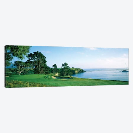Pebble Beach Golf Course, Pebble Beach, Monterey County, California, USA Canvas Print #PIM12741} by Panoramic Images Canvas Wall Art