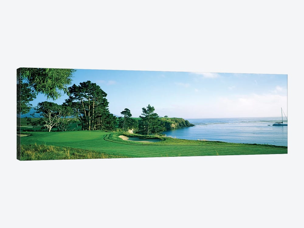 Pebble Beach Golf Course, Pebble Beach, Monterey County, California, USA by Panoramic Images 1-piece Canvas Wall Art