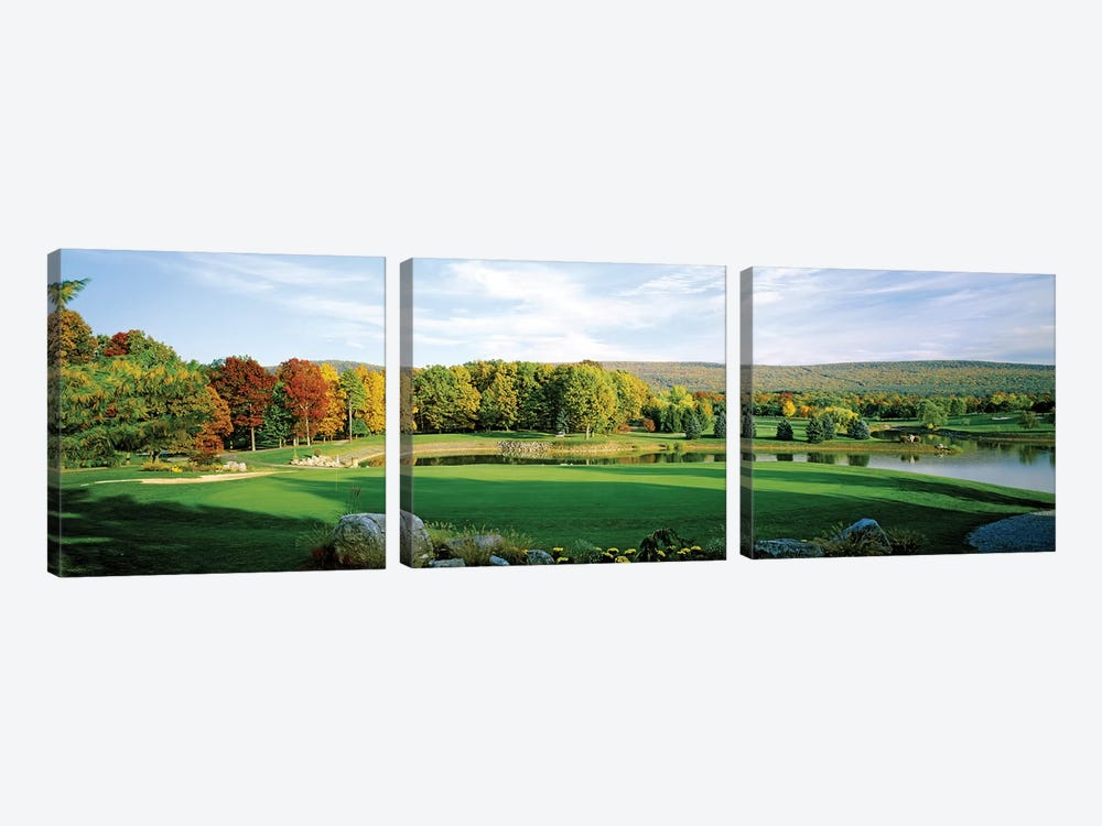 Golf course, Penn National Golf Club, Fayetteville, Franklin County, Pennsylvania, USA by Panoramic Images 3-piece Canvas Art Print