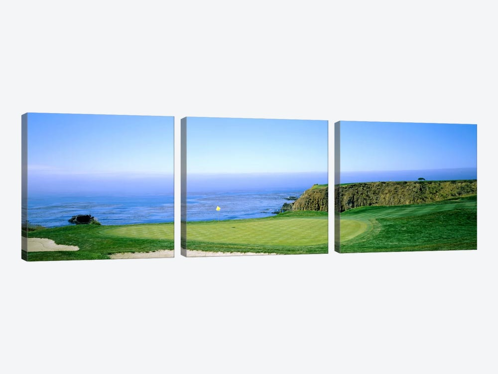 8th Hole, Pebble Beach Golf Links, Monterey County, California, USA by Panoramic Images 3-piece Art Print
