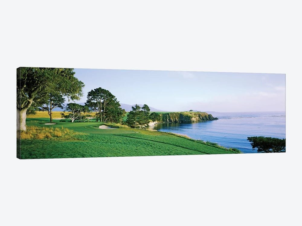 Pebble Beach Golf Course 3, Pebble Beach, Monterey County, California, USA by Panoramic Images 1-piece Canvas Art Print