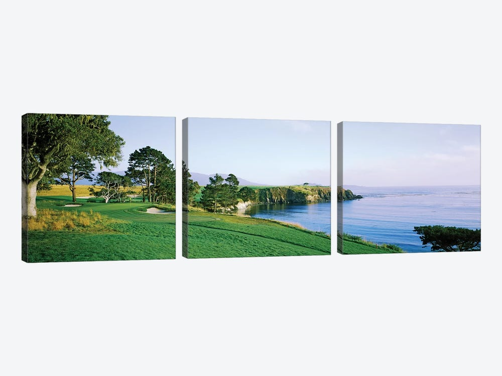 Pebble Beach Golf Course 3, Pebble Beach, Monterey County, California, USA by Panoramic Images 3-piece Canvas Print