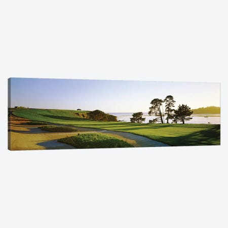 Pebble Beach Golf Course 4, Pebble Beach, Monterey County, California, USA Canvas Print #PIM12768} by Panoramic Images Canvas Art