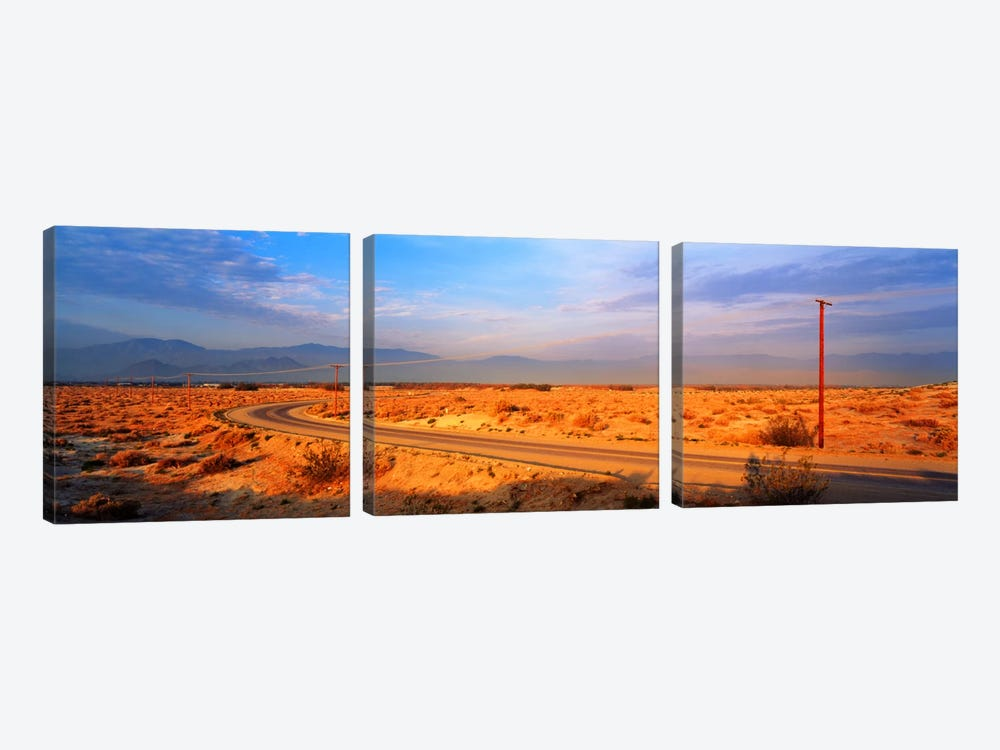 Road Desert Springs CA by Panoramic Images 3-piece Canvas Art