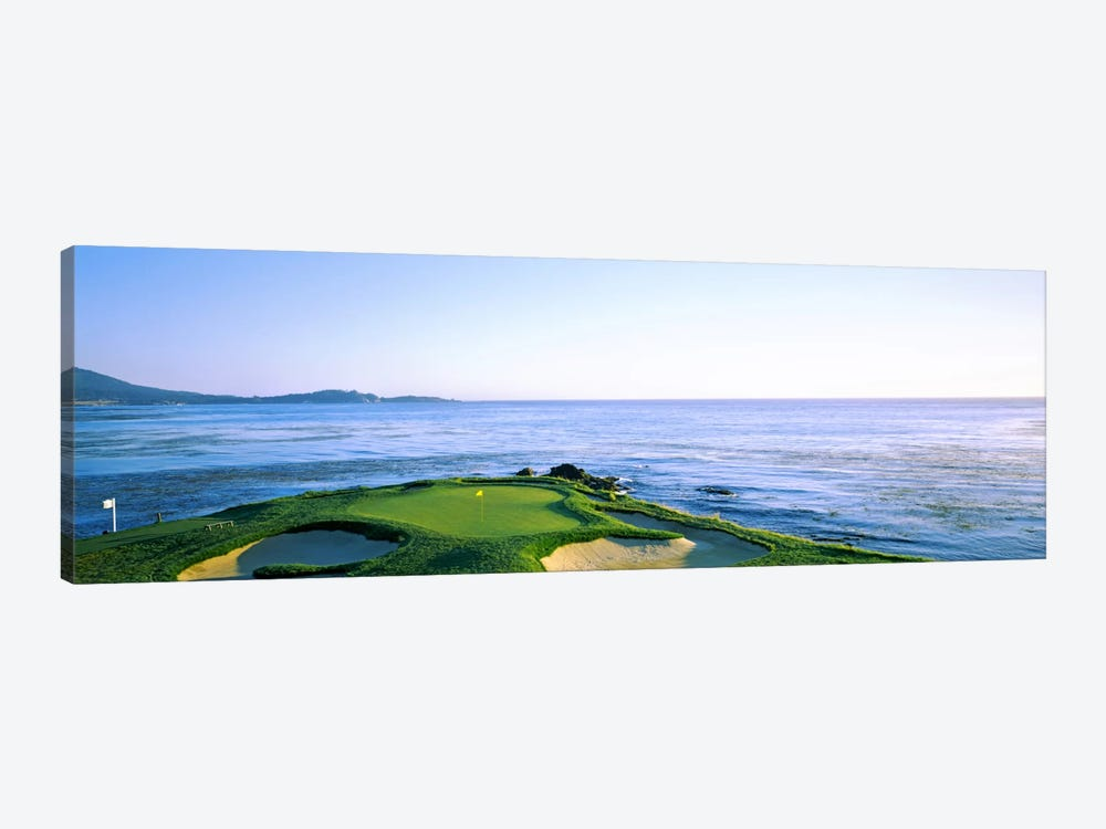 7th Hole, Pebble Beach Golf Links, Monterey County, California, USA by Panoramic Images 1-piece Canvas Art Print