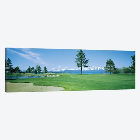 Sand trap in a golf course, Edgewood Tahoe Golf Course, Stateline, Douglas County, Nevada Canvas Print #PIM12782} by Panoramic Images Canvas Artwork