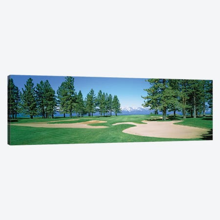 Sand traps in a golf course, Edgewood Tahoe Golf Course, Stateline, Douglas County, Nevada, USA Canvas Print #PIM12783} by Panoramic Images Canvas Wall Art