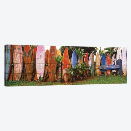 Arranged surfboards, Maui, Hawaii, USA Canvas Print #PIM12848} by Panoramic Images Canvas Print