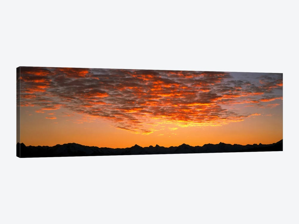 Ben Ohau Mtn Range S Canterbury New Zealand by Panoramic Images 1-piece Canvas Print