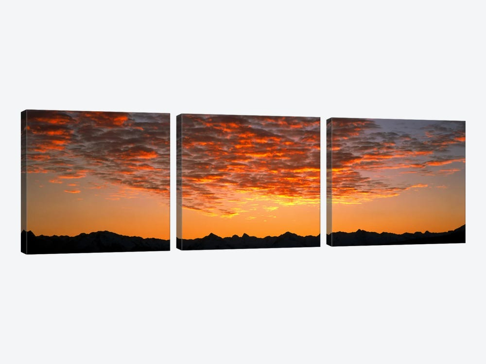 Ben Ohau Mtn Range S Canterbury New Zealand by Panoramic Images 3-piece Canvas Art Print