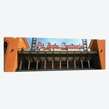 Low angle view of the Busch Stadium in St. Louis, Missouri, USA Canvas Print #PIM12880} by Panoramic Images Art Print