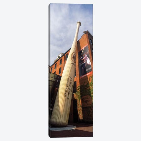 Giant baseball bat adorns outside of the Louisville Slugger Museum And Factory, Louisville, Kentucky, USA Canvas Print #PIM12898} by Panoramic Images Canvas Art