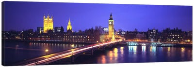 Palace of Westminster, City Of Westminster, London, England Canvas Print #PIM128