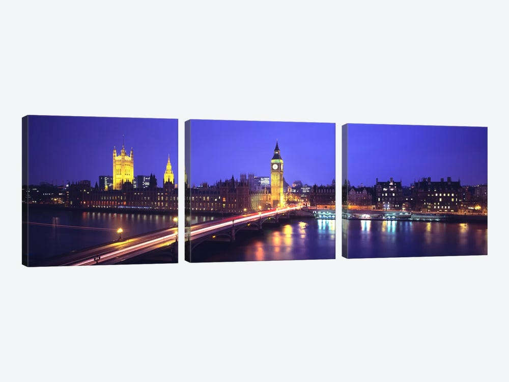 Palace of Westminster, City Of Westminster, London, England by Panoramic Images 3-piece Canvas Art Print