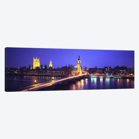 Palace of Westminster, City Of Westminster, London, England Canvas Print #PIM128} by Panoramic Images Art Print