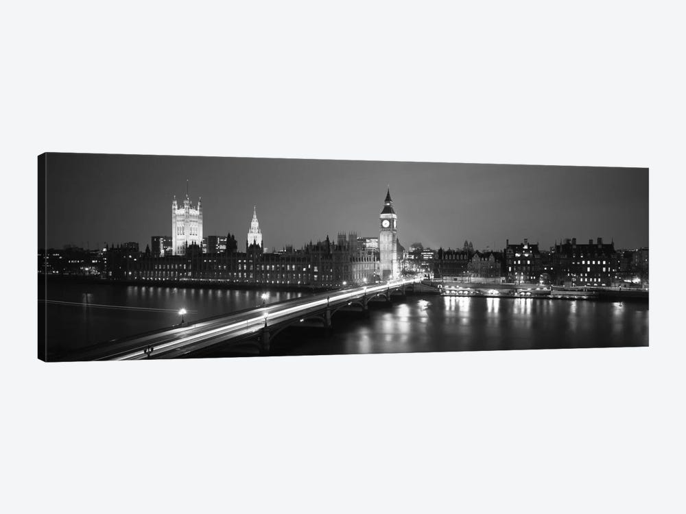 England, London, Parliament, Big Ben (black & white) by Panoramic Images 1-piece Canvas Print