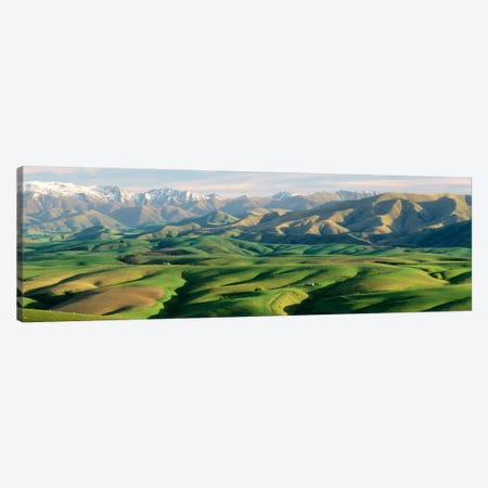 Farmland S Canterbury New Zealand Canvas Print #PIM1292} by Panoramic Images Canvas Art