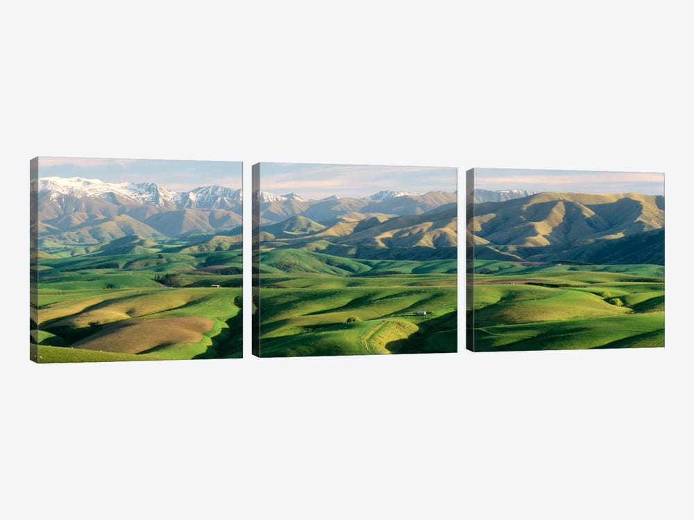 Farmland S Canterbury New Zealand by Panoramic Images 3-piece Canvas Wall Art
