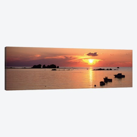 Sunset Over Archipelago Lilia,  Ile Vierge, Finistere, Brittany, France Canvas Print #PIM12946} by Panoramic Images Canvas Art Print