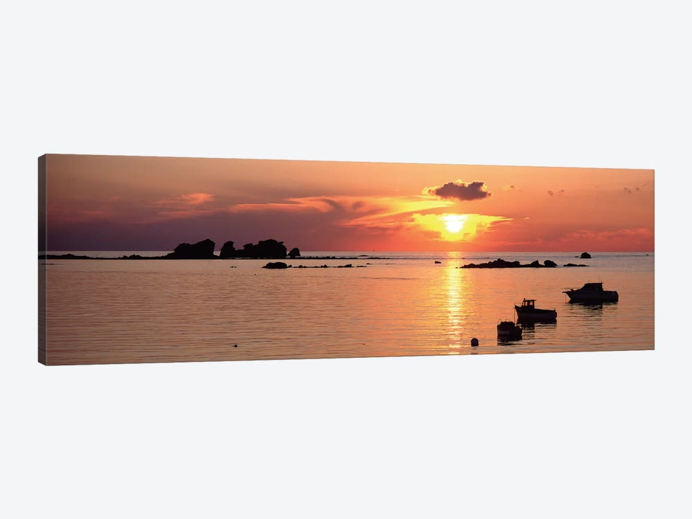 Sunset Over Archipelago Lilia,  Ile Vierge, Finistere, Brittany, France by Panoramic Images 1-piece Canvas Artwork