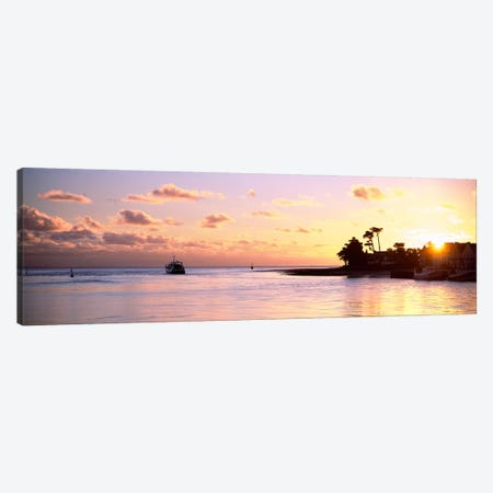 Sunrise At Loctudy Harbour, Finistere, Brittany, France Canvas Print #PIM12948} by Panoramic Images Canvas Wall Art