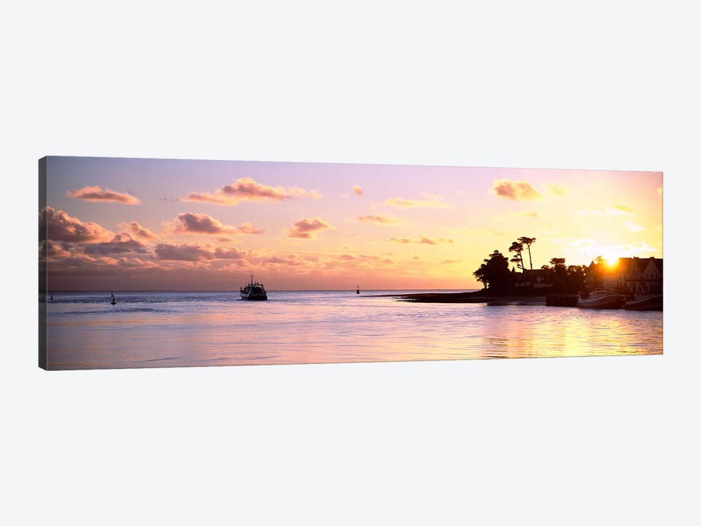 Sunrise At Loctudy Harbour, Finistere, Brittany, France by Panoramic Images 1-piece Canvas Artwork