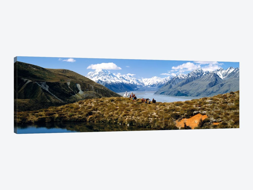 Horse Trekking Mt Cook New Zealand by Panoramic Images 1-piece Canvas Art Print