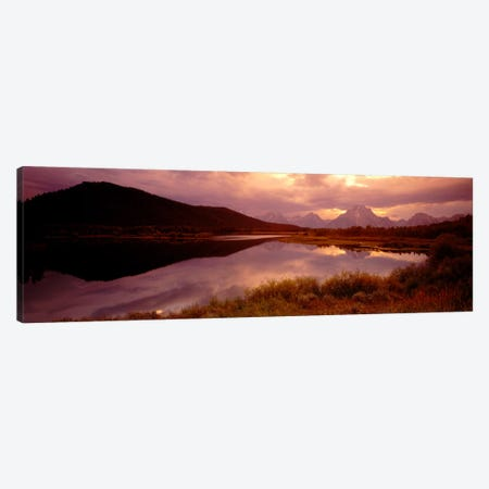 Teton Range, Mountains, Grand Teton National Park, Wyoming, USA Canvas Print #PIM12} by Panoramic Images Art Print