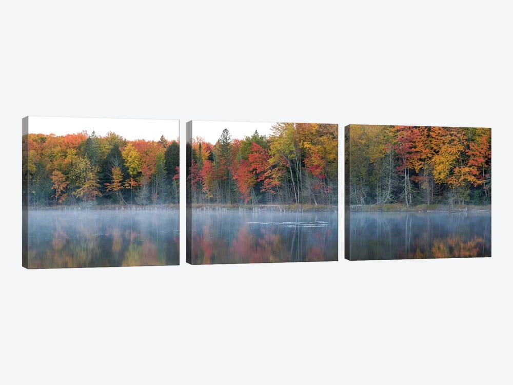 Lake Hiawatha, Alger County, Upper Peninsula, Michigan, USA by Panoramic Images 3-piece Canvas Wall Art