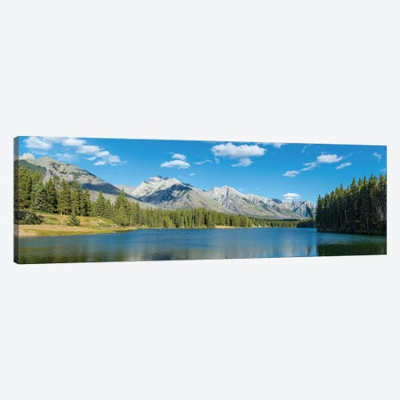 Johnson Lake II, Banff National Park, Alberta, Canada Canvas Print #PIM13023} by Panoramic Images Canvas Artwork