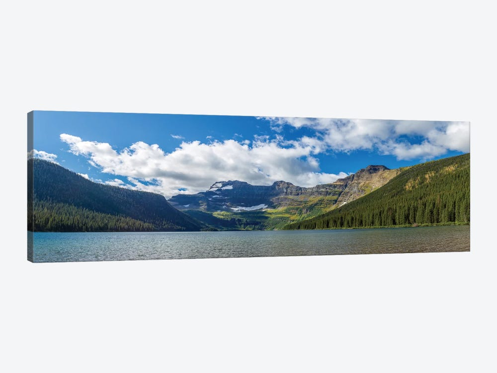 View of Mount Custer from Cameron Lake, Waterton Lakes National Park, Alberta, Canada by Panoramic Images 1-piece Canvas Art