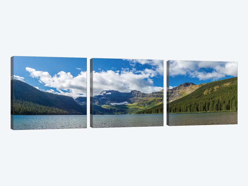 View of Mount Custer from Cameron Lake, Waterton Lakes National Park, Alberta, Canada by Panoramic Images 3-piece Canvas Wall Art