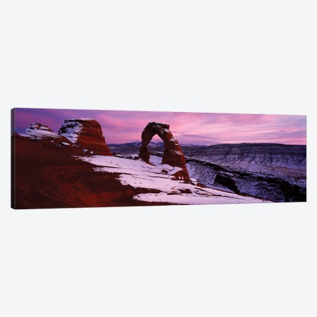Delicate Arch In Winter, Arches National Park, Utah, USA Canvas Print #PIM13042} by Panoramic Images Canvas Art
