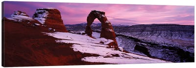 Delicate Arch In Winter, Arches National Park, Utah, USA Canvas Print #PIM13042