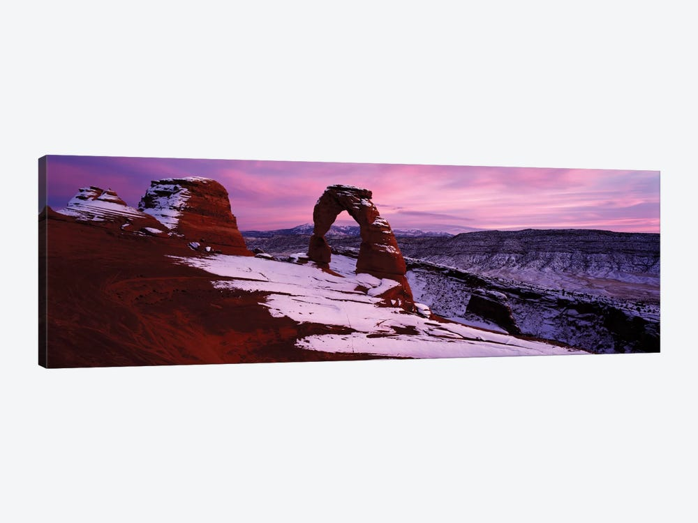 Delicate Arch In Winter, Arches National Park, Utah, USA by Panoramic Images 1-piece Canvas Wall Art