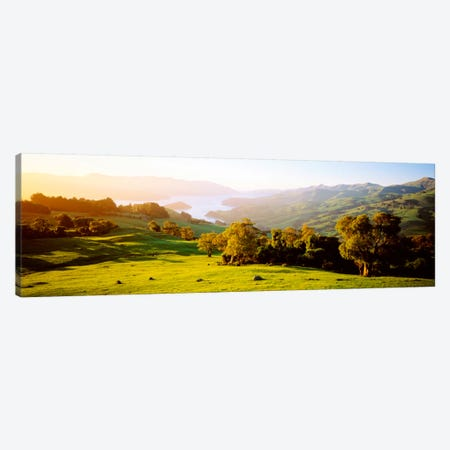 Akaroa Harbor Canterbury New Zealand Canvas Print #PIM1305} by Panoramic Images Canvas Art Print