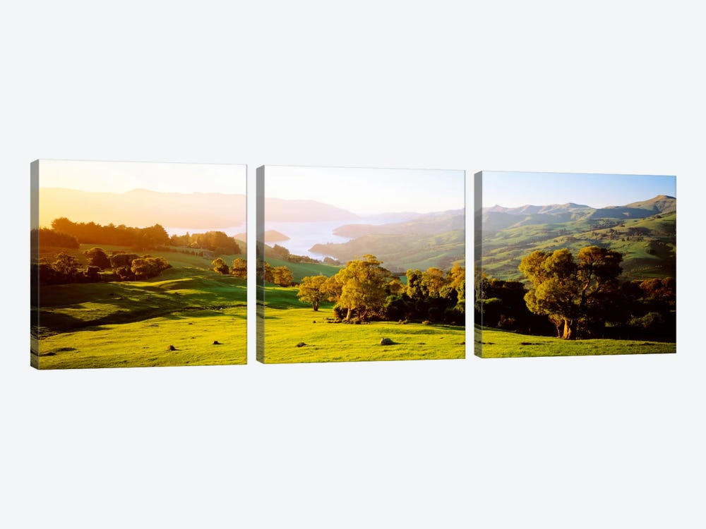 Akaroa Harbor Canterbury New Zealand by Panoramic Images 3-piece Art Print