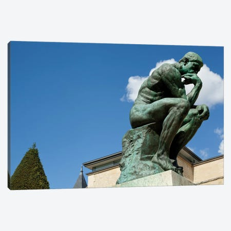 Rodin's Les Penseur (The Thinker) II, Musee Rodin Garden, Paris, Ile-de-France, France Canvas Print #PIM13092} by Panoramic Images Canvas Print