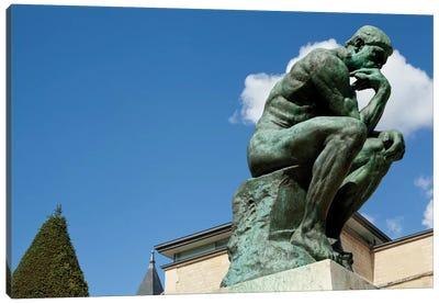 Rodin's Les Penseur (The Thinker) II, Musee Rodin Garden, Paris, Ile-de-France, France Canvas Print #PIM13092