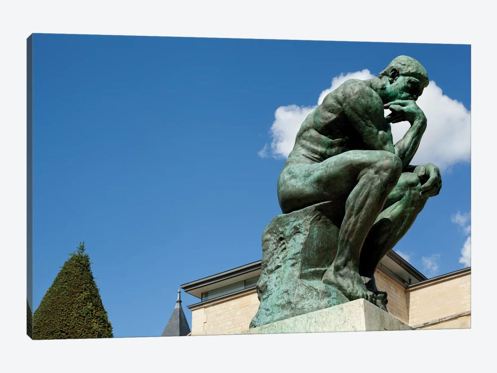 Rodin's Les Penseur (The Thinker) II, Musee Rodin Garden, Paris, Ile-de-France, France 1-piece Art Print