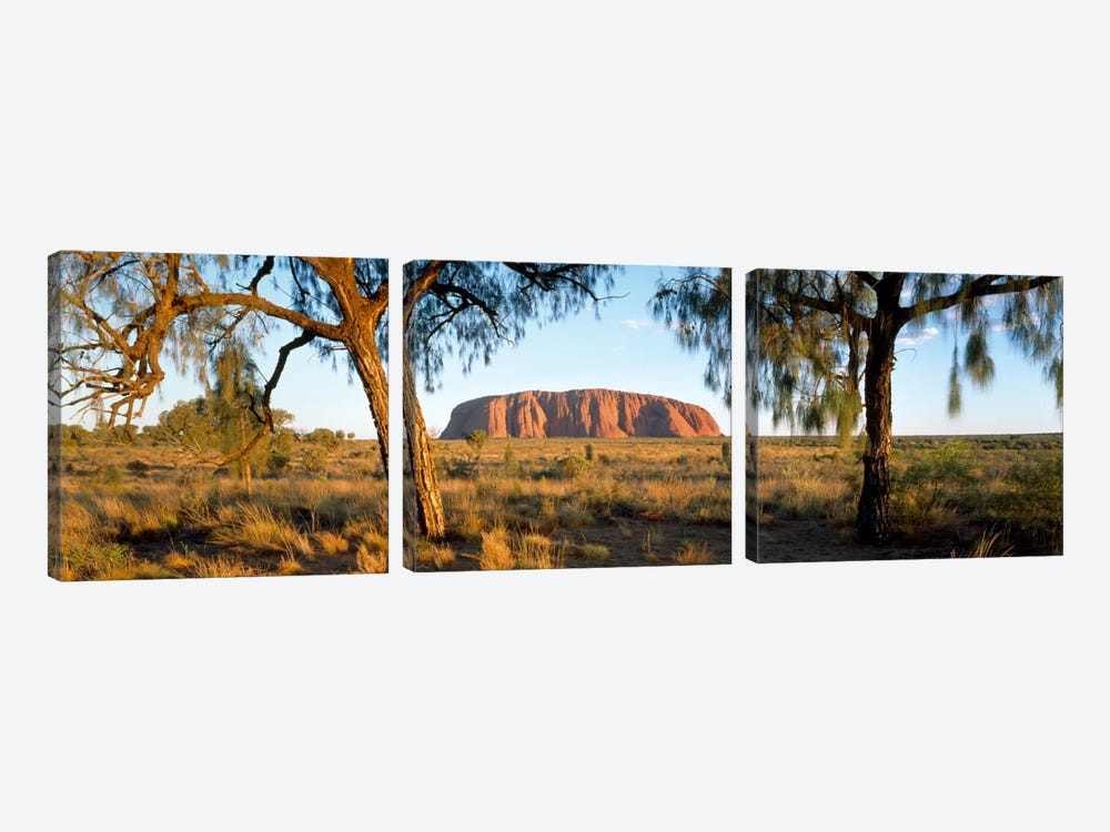 Ayers Rock Australia by Panoramic Images 3-piece Canvas Artwork