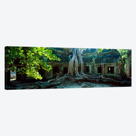 Wat Temple Complex of Ta-Prohm Cambodia Canvas Print #PIM1313} by Panoramic Images Canvas Art Print