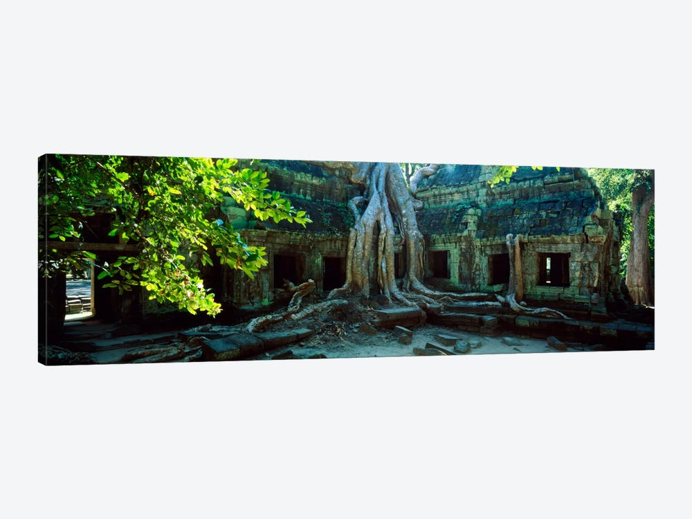 Wat Temple Complex of Ta-Prohm Cambodia by Panoramic Images 1-piece Canvas Art