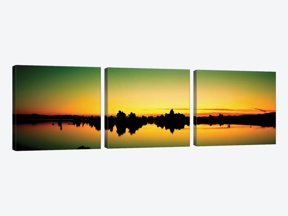 Tufa Towers II, Mono Lake, Mono County, California, USA 3-piece Canvas Print