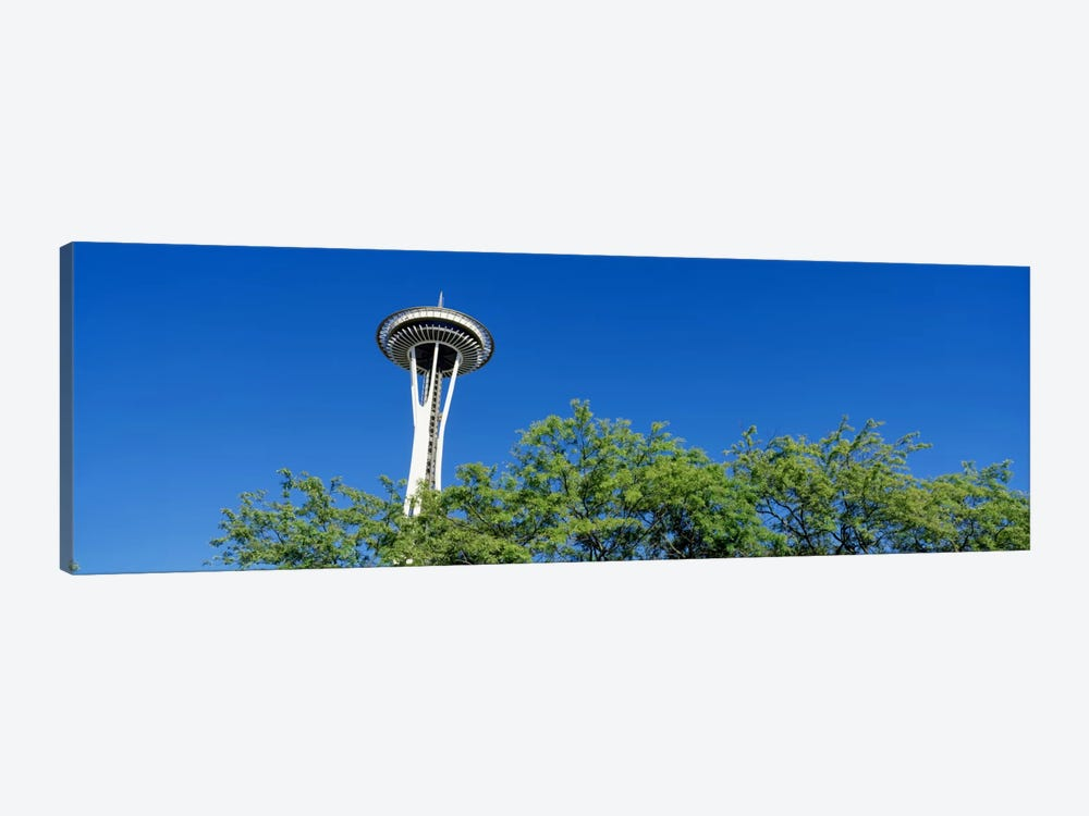 Low angle view of a tower, Space Needle, Seattle Center, Seattle, King County, Washington State, USA by Panoramic Images 1-piece Art Print