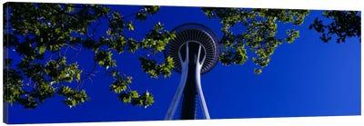 Space Needle Maple Trees Seattle Center Seattle WA USA Canvas Print #PIM1319