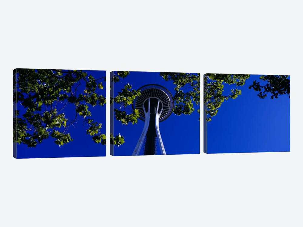 Space Needle Maple Trees Seattle Center Seattle WA USA by Panoramic Images 3-piece Canvas Art