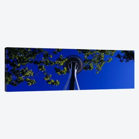 Space Needle Maple Trees Seattle Center Seattle WA USA Canvas Print #PIM1319} by Panoramic Images Canvas Art Print